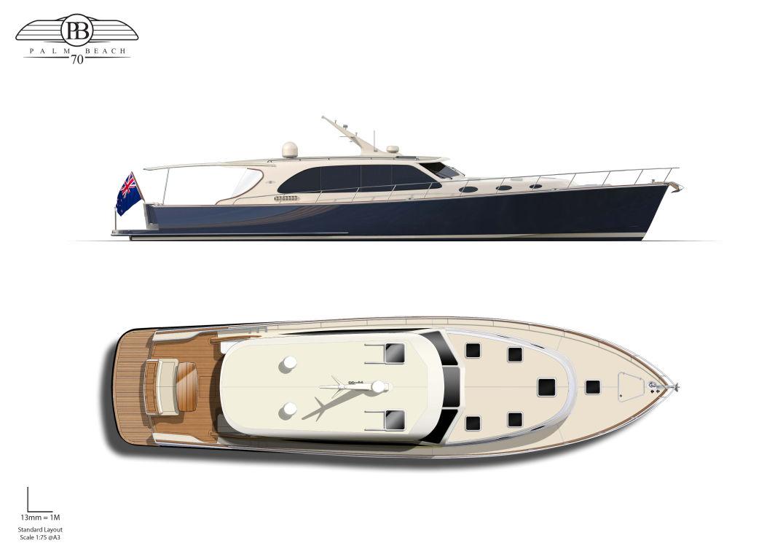 Palm Beach Motor Yachts 70 Sedan Image